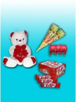 "10"" teddy bear , 2 Kon Mehndi ,Chori Set ,24 Pcs KitKat Chocolate"