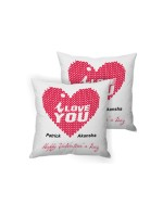 I Love Cushion Set
