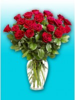 2 Dozen Local Red Roses In Vase