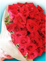 5 Dozen Red Roses Bouquet