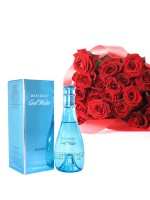Cool Water Perfume With 2 Dozen Roses
